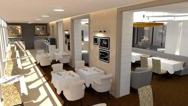Reconstrucción del restaurante