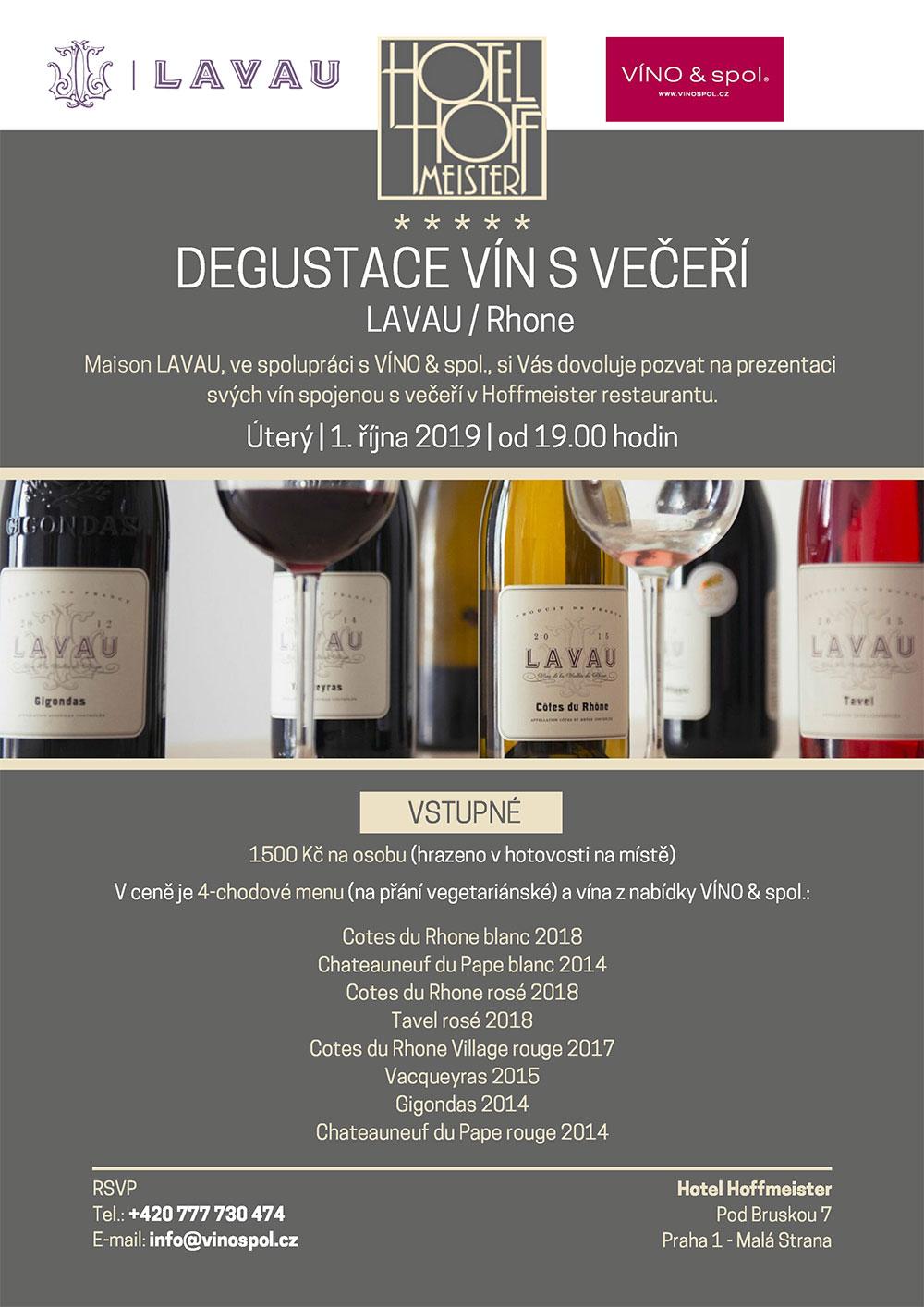 Degustace vín s večeří